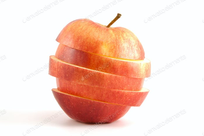 sliced red apple