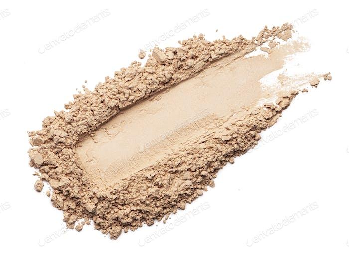 Face powder stroke