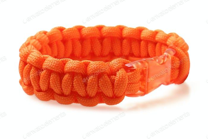 Orange Para Cord Bracelet