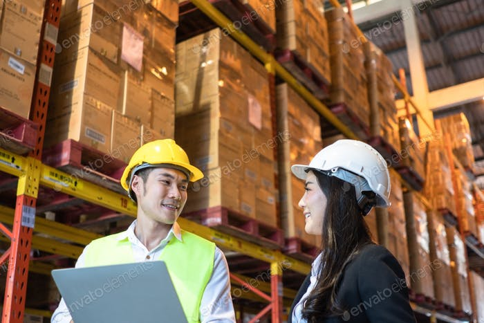 Asian man worker discuss work with customer