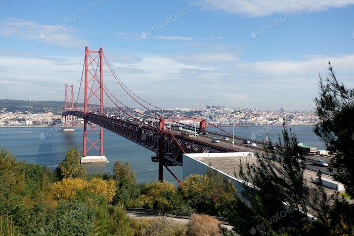 Bridge with heavy traffic