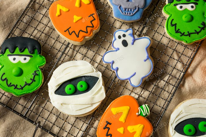 Scary Hausgemachte Halloween-Cookies