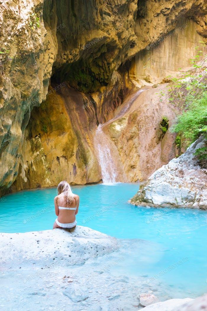 natural pool in lefkada