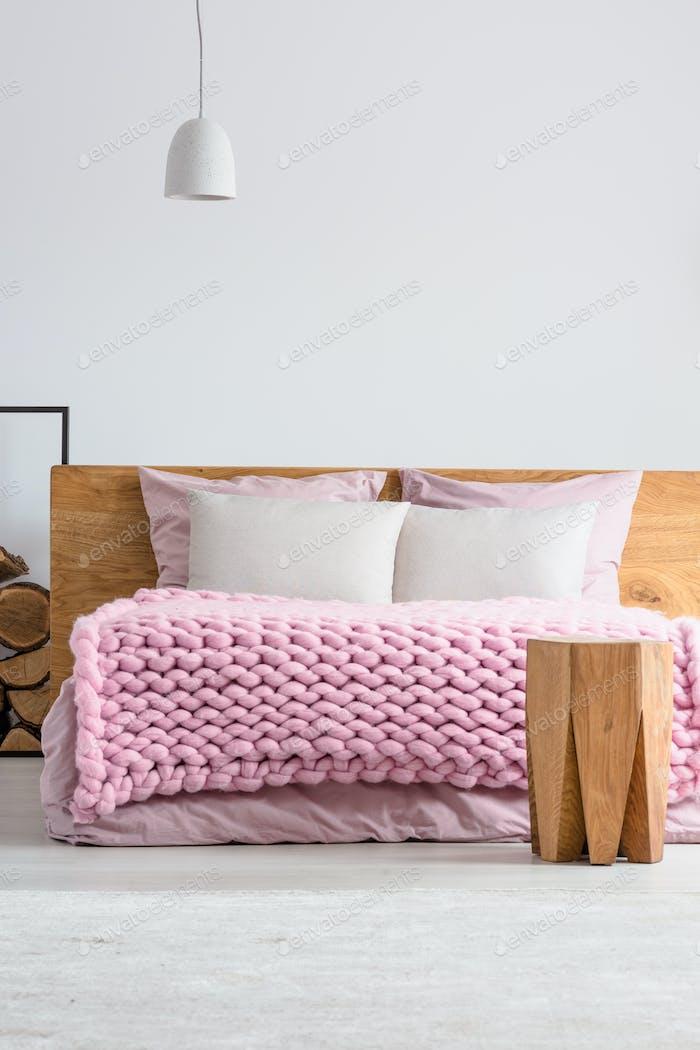 Blanket on bed