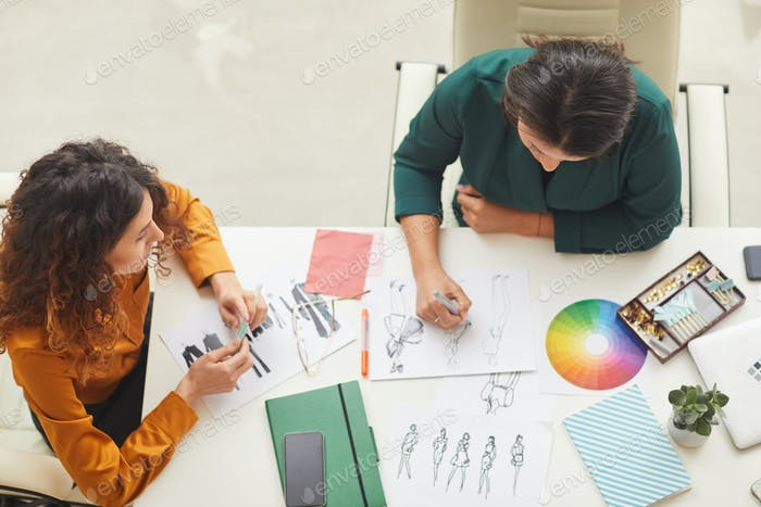 Designers Making Clothes Sketches Top Shot