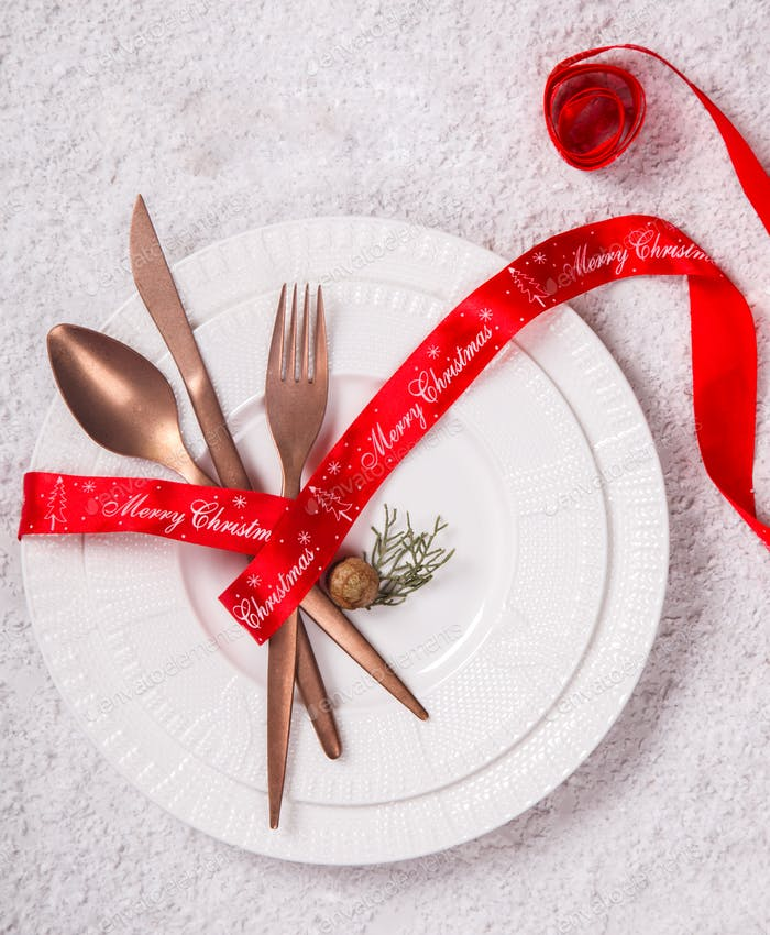 Christmas аnd New Year table setting