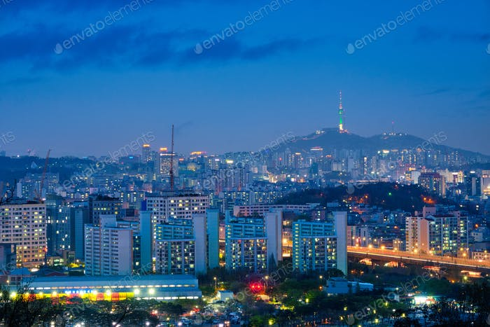 Seoul night view, South Korea