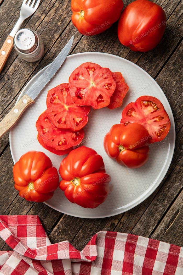 Red beefsteak tomatoes