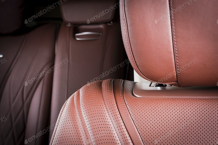 Leather seats details