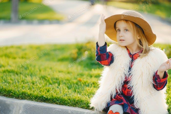 little stylish girl