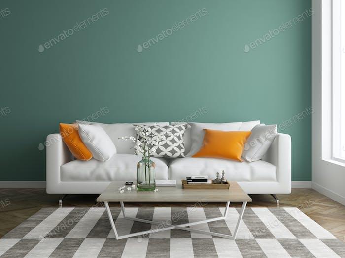 Interior modern design room 3d illustration foto von hemul75 auf