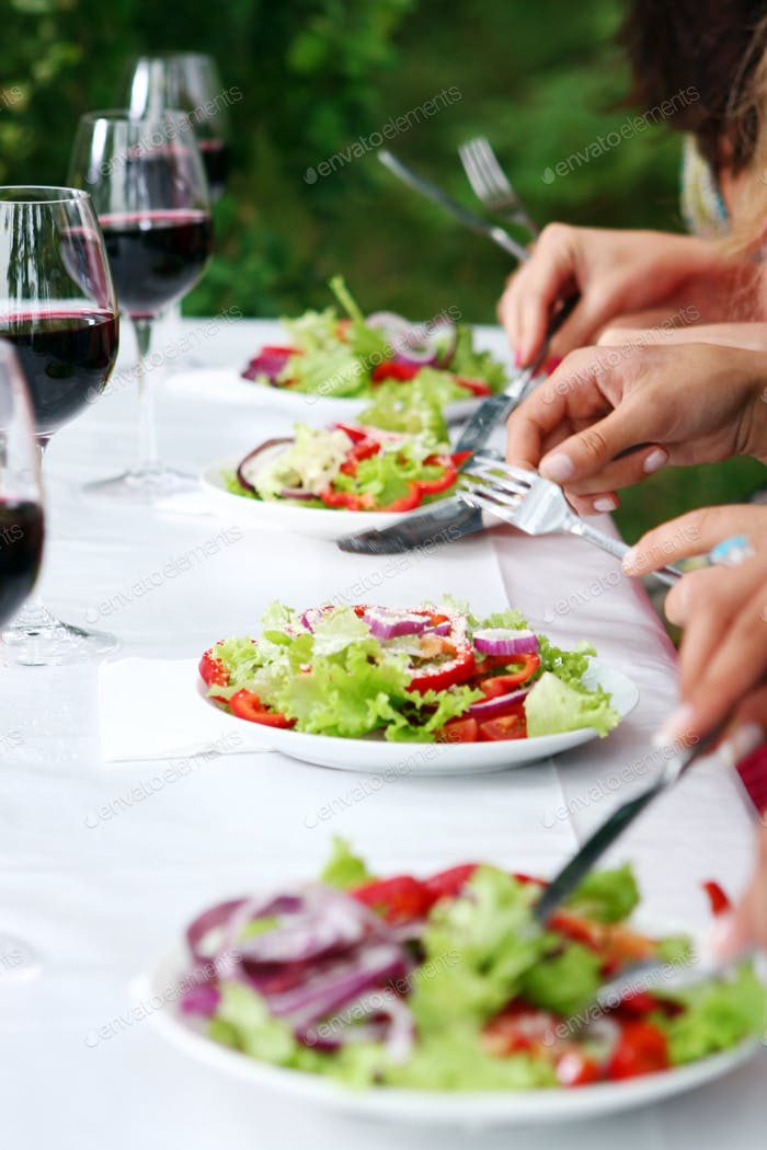 frischer und leckerer grüner Salat