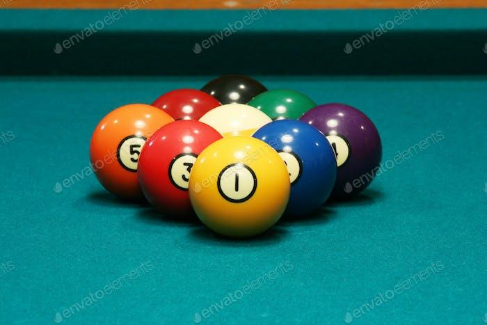 Nine ball rack