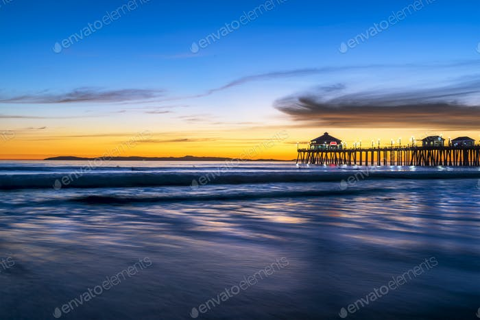Huntington Beach Pier At Sunset Photo By Joebelanger On Envato Elements