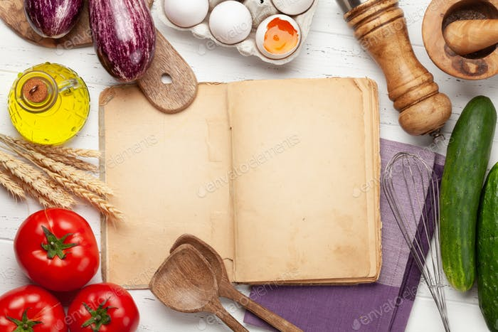 Thumbnail for Cooking utensils, ingredients and cookbook