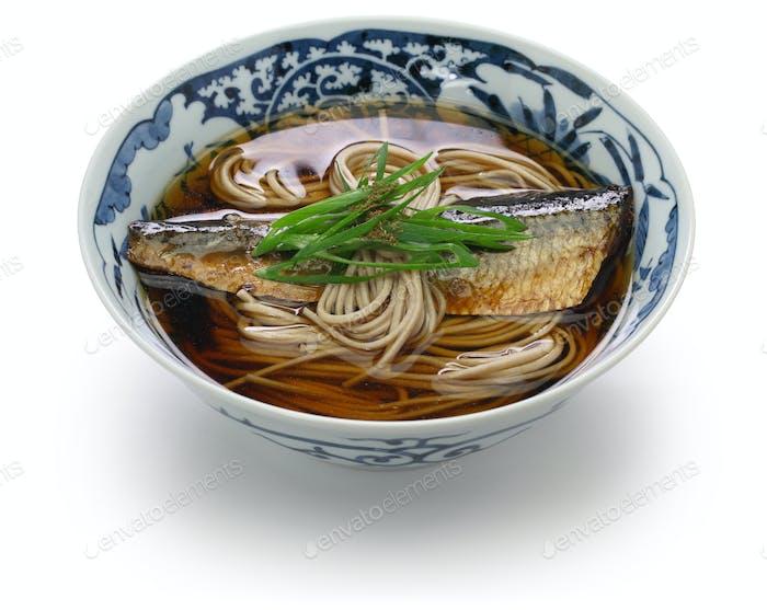 Nishin Soba, japanisches Buchweizen-Nudelgericht