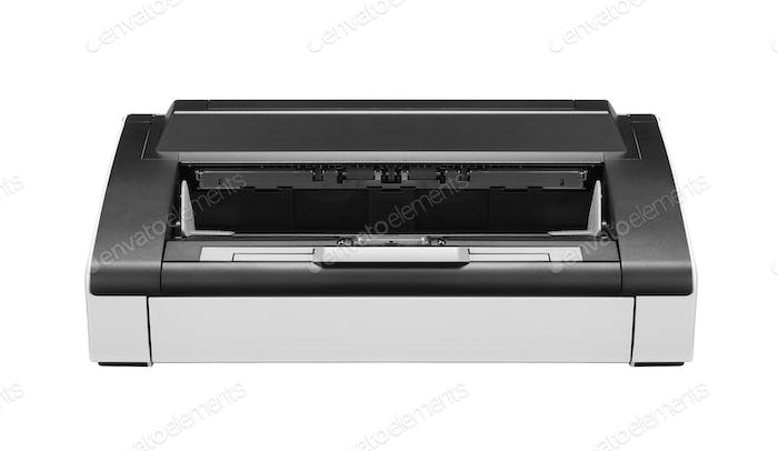 Ink jet printer isolated on white background