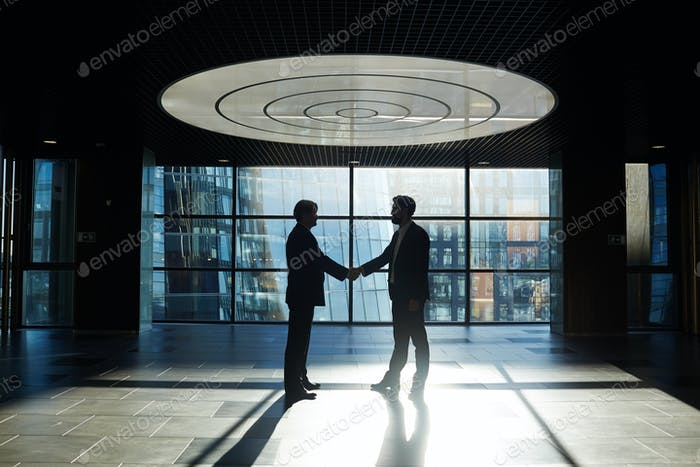 Handshake after agreement