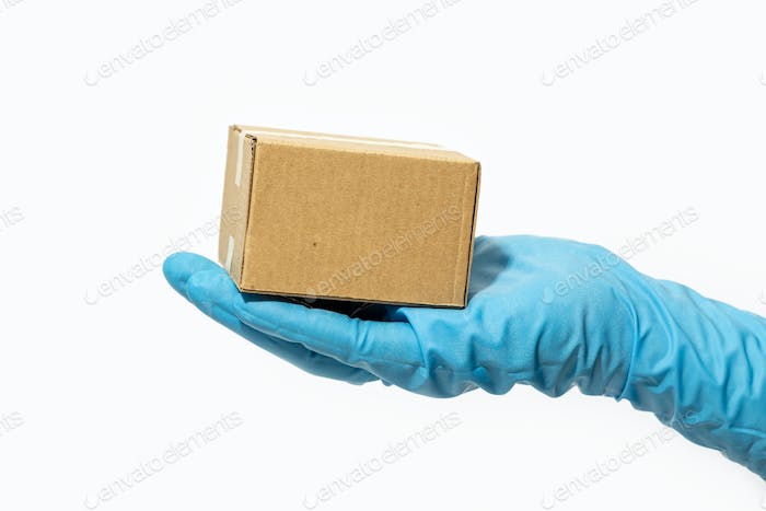 Online shopping and parcel delivery during Coronavirus COVID-19 pandemic