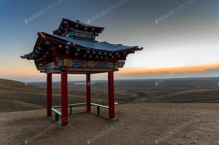 Pagode für Meditation oder Pavillon im buddhistischen Stil