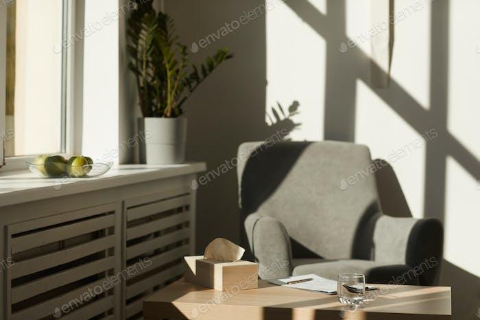 Empty office of psychologist