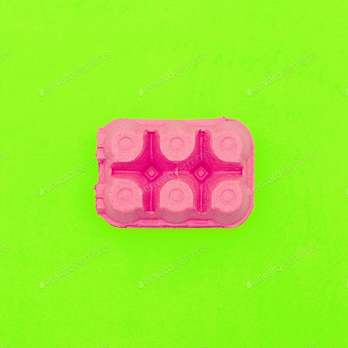 Egg box. Minimal design art. Creative