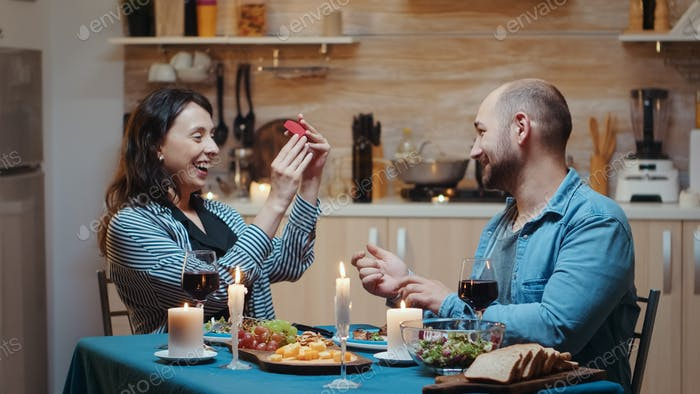 Proposal in the kitchen