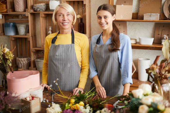 Two Florists in Shop