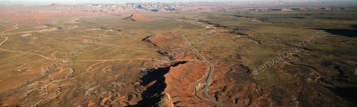 53797,Aerial view of Valley of the Gods, Utah, United States