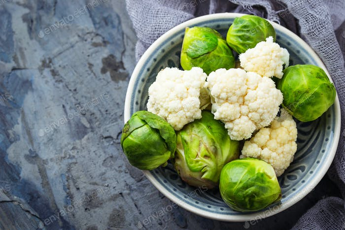 Thumbnail for Brussels sprouts and cauliflower
