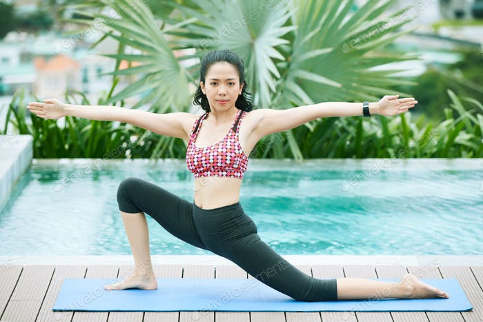 Asian woman practice yoga
