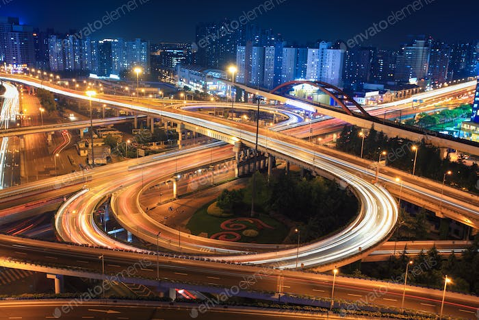 interchange at night