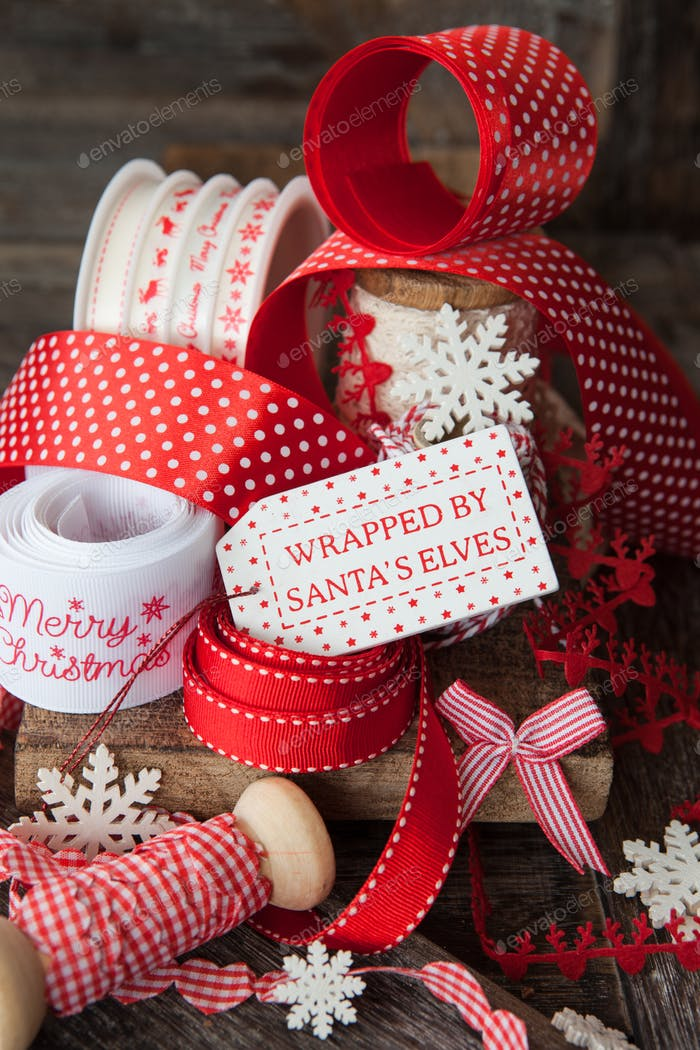 Christmas gift ribbons