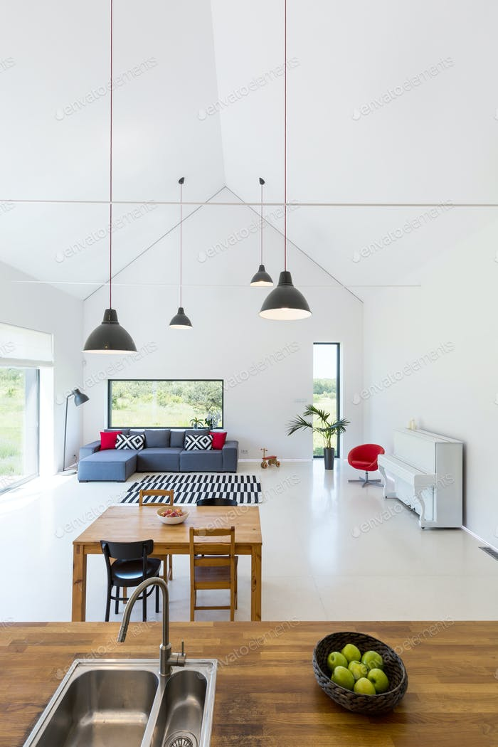 Modern interior of detached house