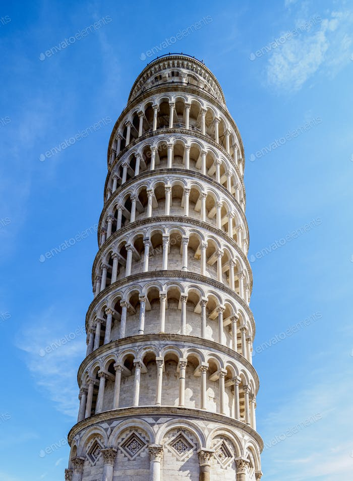 Pisa Tower in Tuscany, Italy