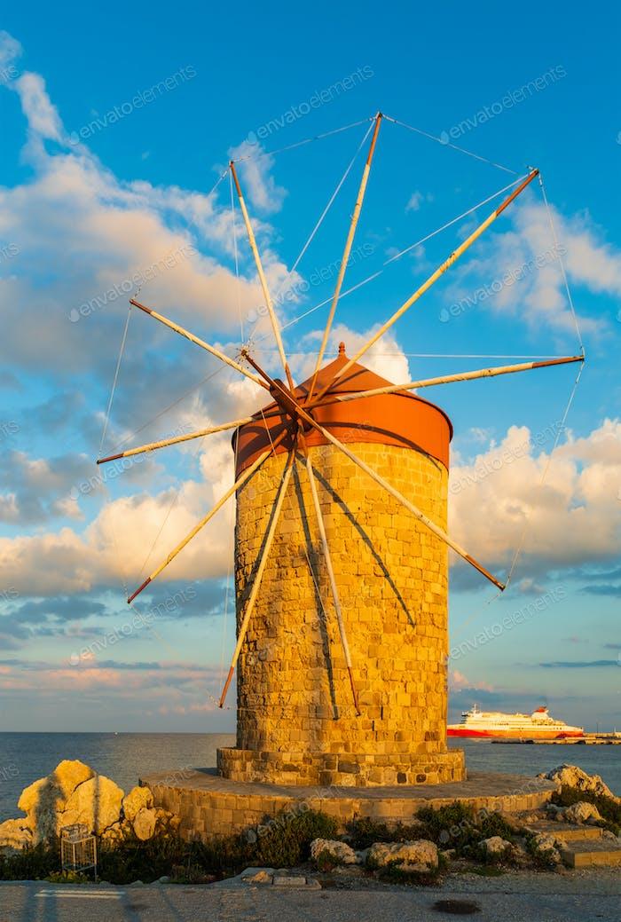 Windmills at Mandraki Harbour