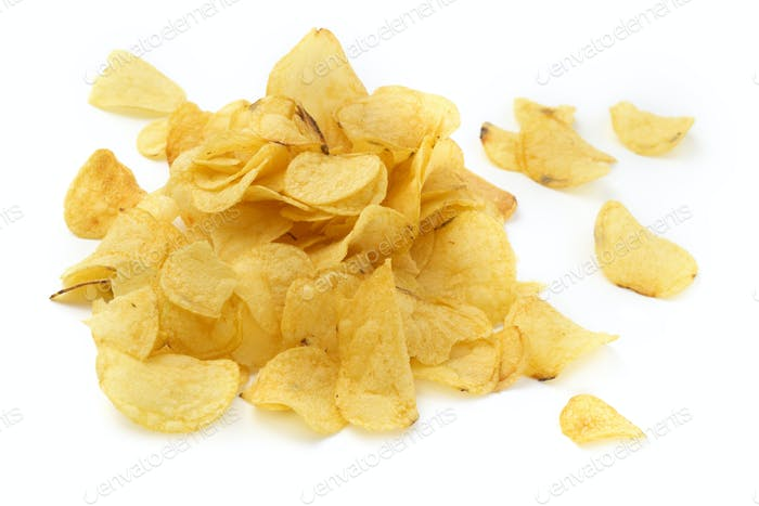pile of crisps