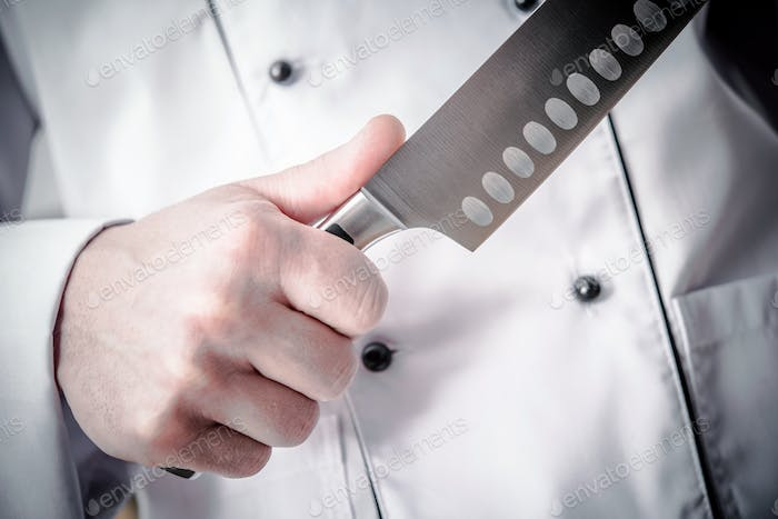 Huge Knife and Cooking Time