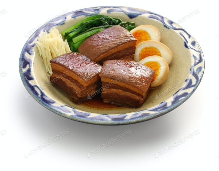 braised pork belly, dongpo pork, okinawa rafute