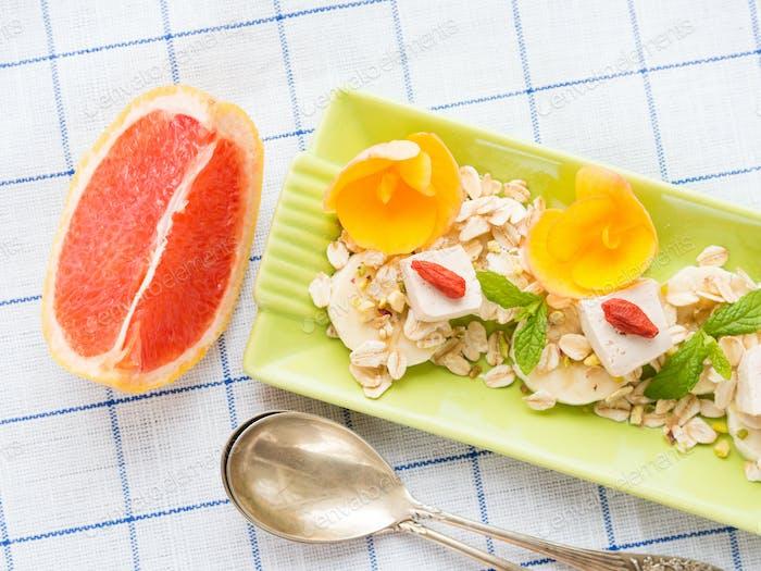 Ingredients for diet healthy breakfast