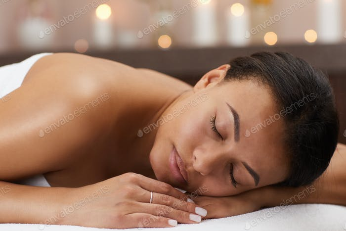 Young Woman Enjoying Spa