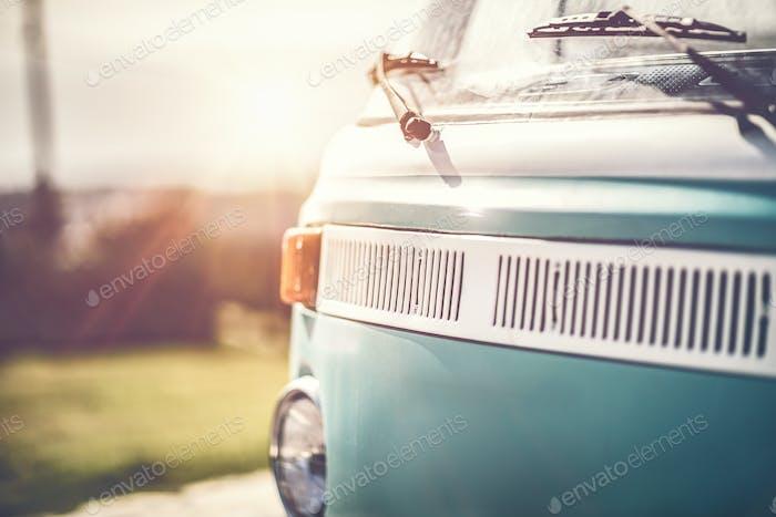 Furgoneta de caravana Vintage rara
