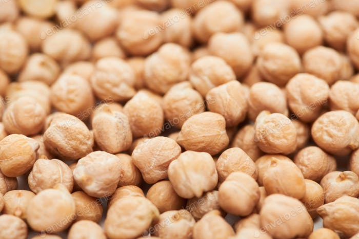 Close up View of Unprocessed Organic Chickpea