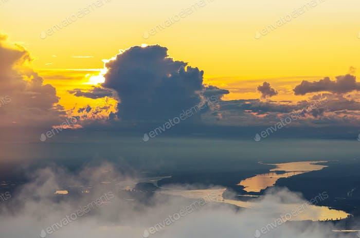Sonnenuntergang Szene