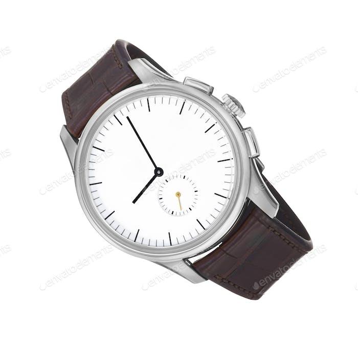 Armbanduhr isoliert auf weißem Hintergrund