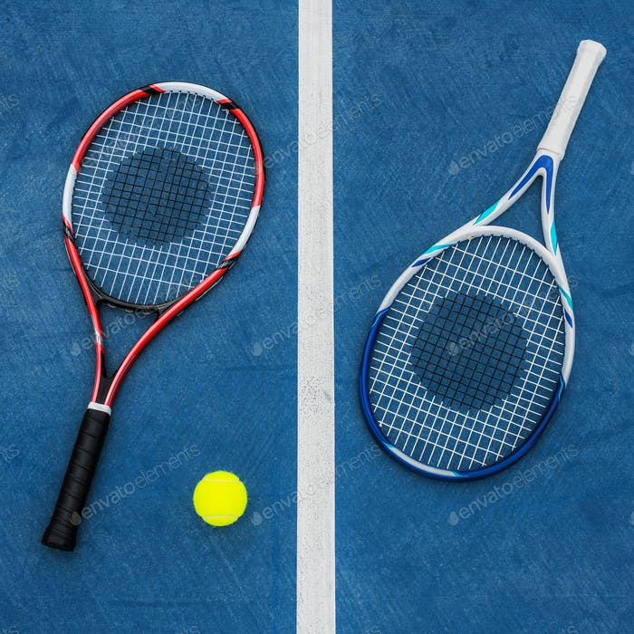 Racket Tennis Ball Sport Equipment Concept