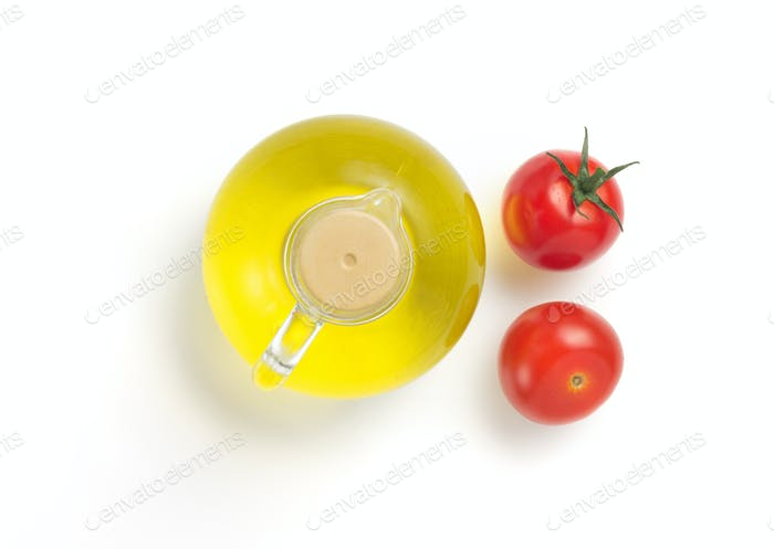bottle of oil isolated at white