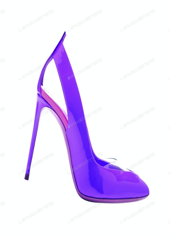 high heel shoe isolated