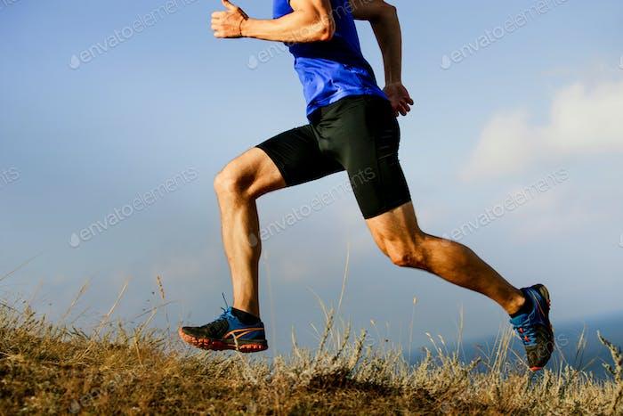 legs male athlete runner