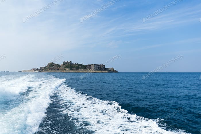 Abandoned Hashima Island in nagasaki